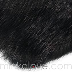 Faux Fox Black Glove Or White Glove